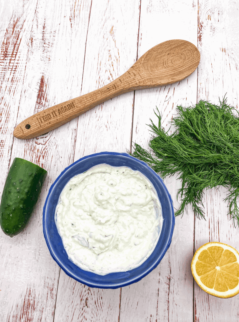 I absolutely love tzatziki sauce. Not only is it healthy, but it livens up all of your summer meals.